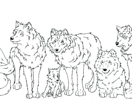 440x330 Wolf Pack Coloring Pages Wolf Pack Colori Pages Anime Couple Book