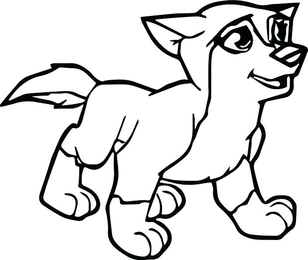 618x522 Wolf Pup Coloring Pages
