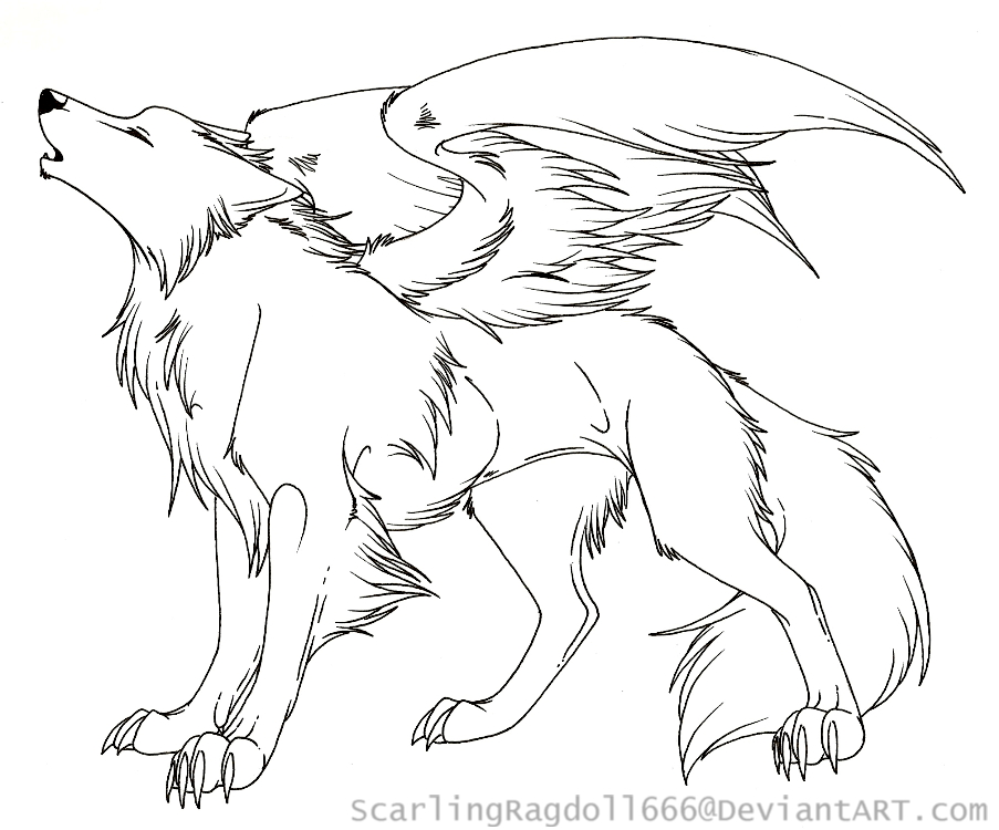 Wolf With Wings Coloring Pages at GetDrawings com | Free for