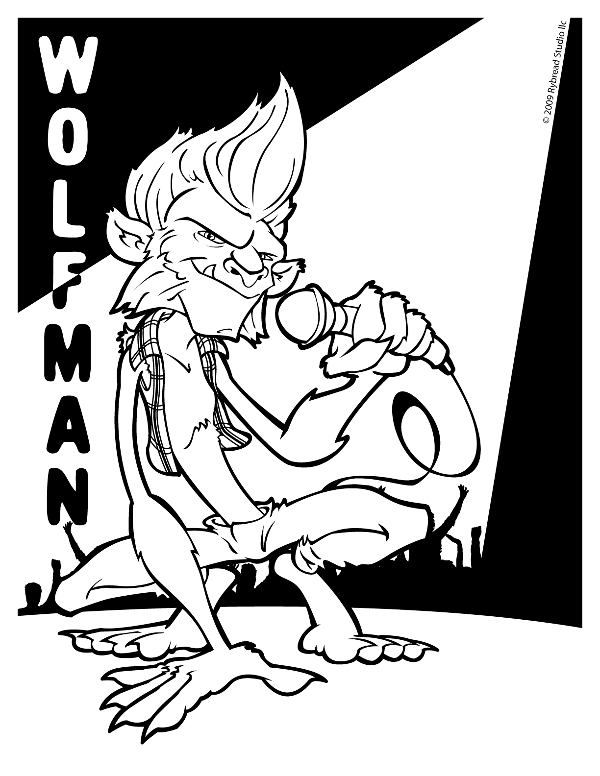 Wolfman Coloring Pages