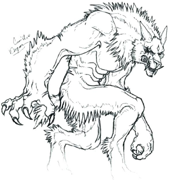 591x636 Werewolf Coloring Pages Or Werewolf Coloring Pages Halloween