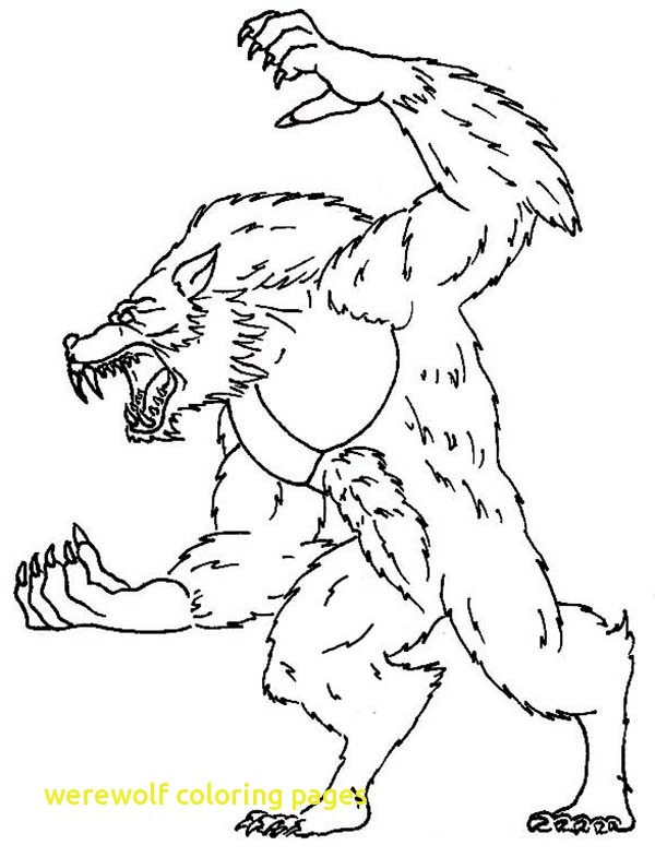 600x785 Werewolf Coloring Pages With Wolfman Coloring Pages Werewolf