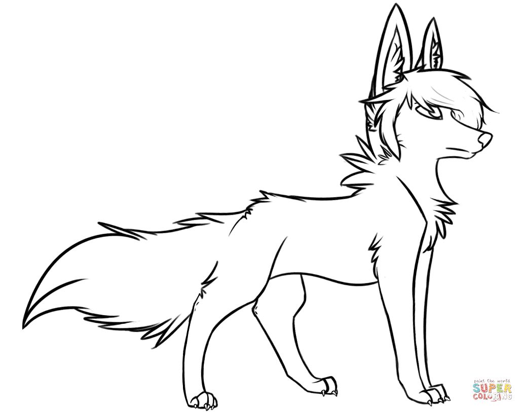 1032x813 Stylish Wolf Coloring Page In Coloring Pages Of Wolves