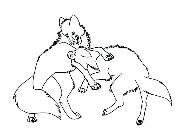 600x450 Anime Wolf Coloring Pages Wolf Fighting Coloring Page Anime Wolf