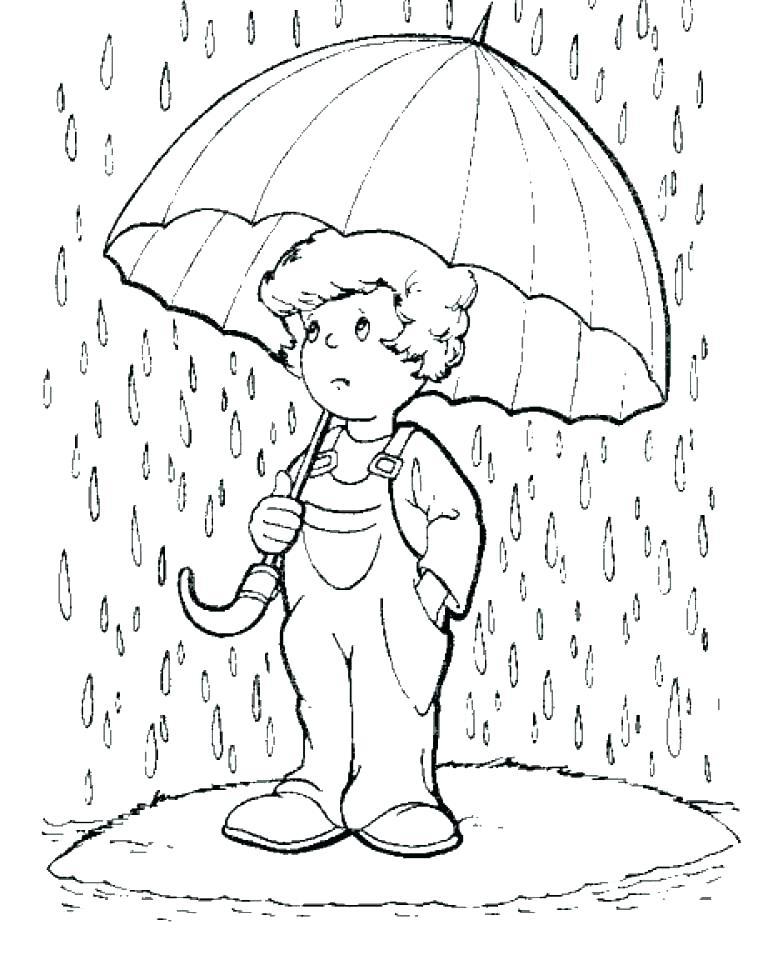 758x960 Rain Coloring Page Rain Coloring Page Rain Coloring Page Drawn