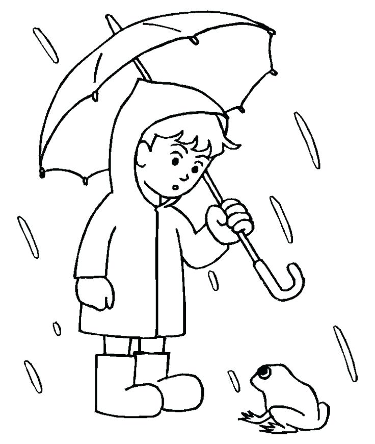 736x870 Rain Coloring Page Weather Coloring Pages Rain A Rain Gauge