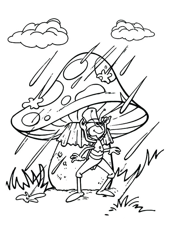 595x842 Rain Coloring Pages Rain Coloring Page With Rainy Day Coloring