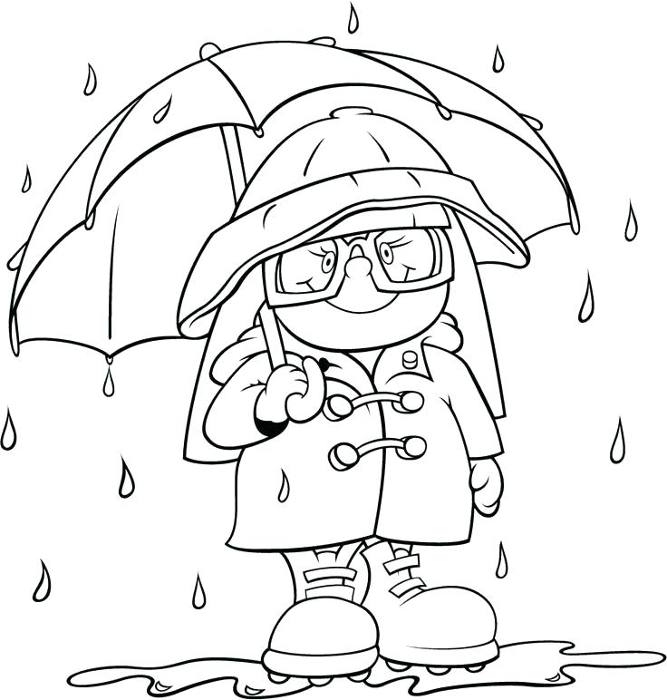 736x772 Coloring Pages Weather Rain Coloring Sheet Coloring Pages Rain