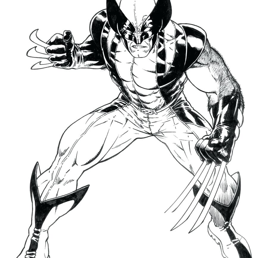 894x864 Wolverine Coloring Page Free Printable Wolverine Coloring Pages