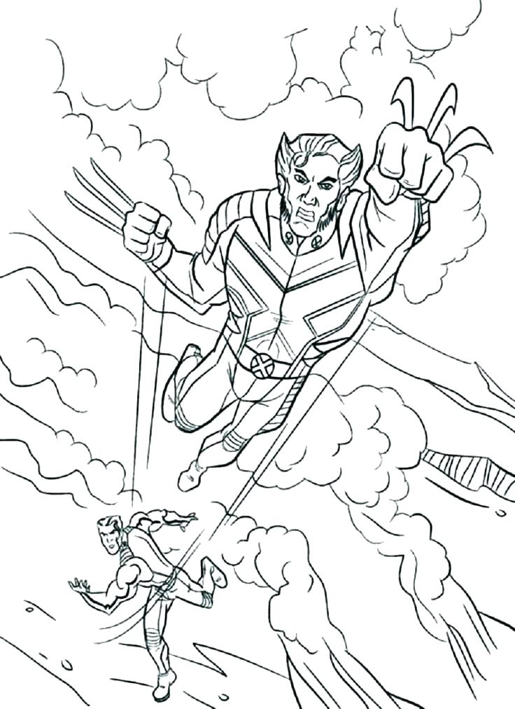 736x1012 Wolverine Coloring Page Wolverine Color Pages Here Are Wolverine