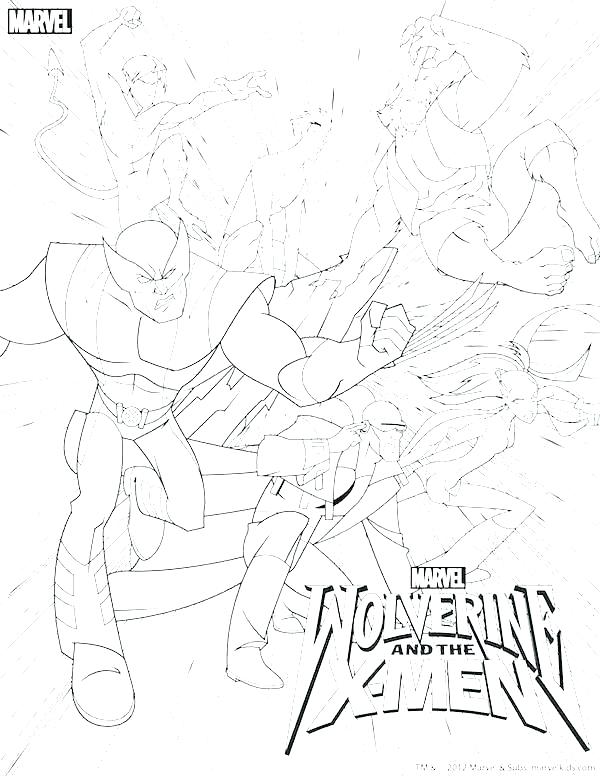 600x776 Wolverine Coloring Pages Printable Wolverine Coloring Book Cool