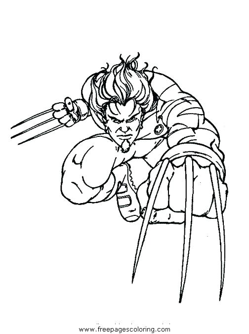 504x676 Wolverine Coloring Pages To Print Wolverine Animal Coloring Pages