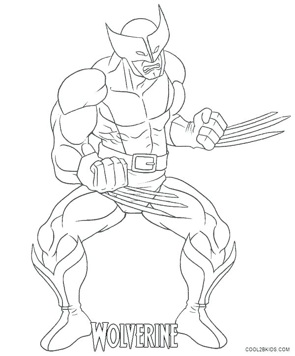 600x725 Wolverine Coloring Pages To Print Wolverine Coloring Pages