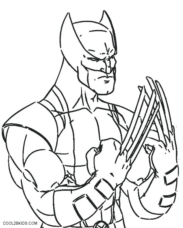 600x746 Wolverine Coloring Pages Wolverine Coloring Pages Printable