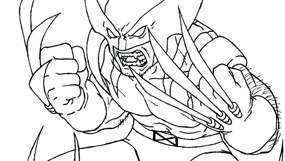 Wolverine Cartoon Coloring Pages