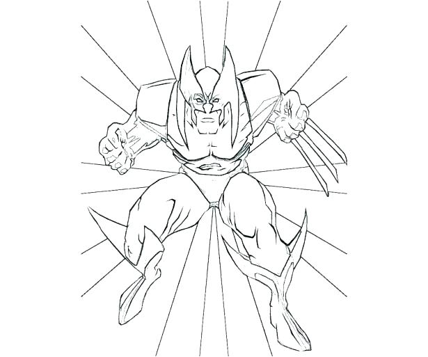615x513 Wolverine Color Pages Free And Wolverine Coloring Pages Wolverine