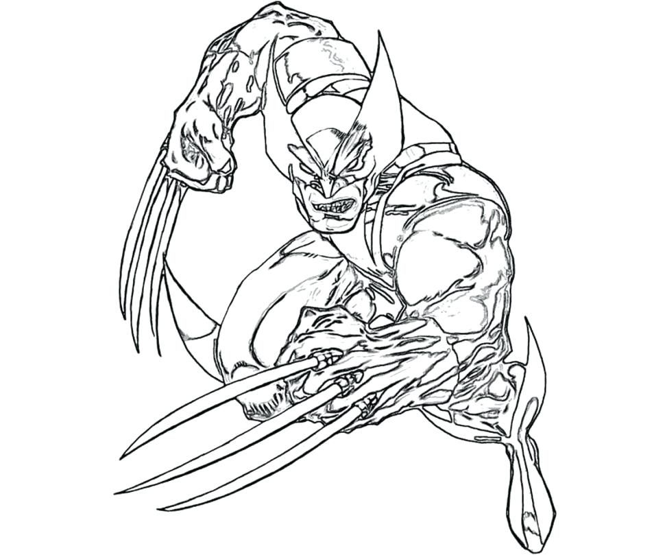 970x809 Wolverine Color Pages Coloring Book Page Wolverine Coloring Book