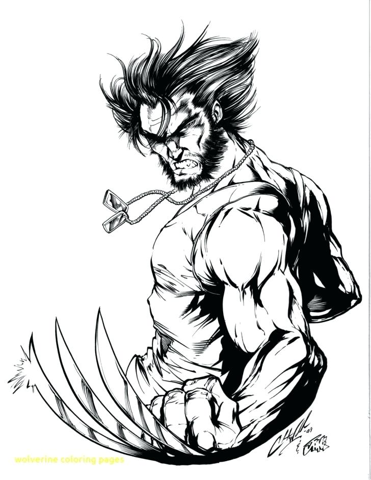 728x941 Wolverine Color Pages Free And Wolverine Coloring Pages Wolverine