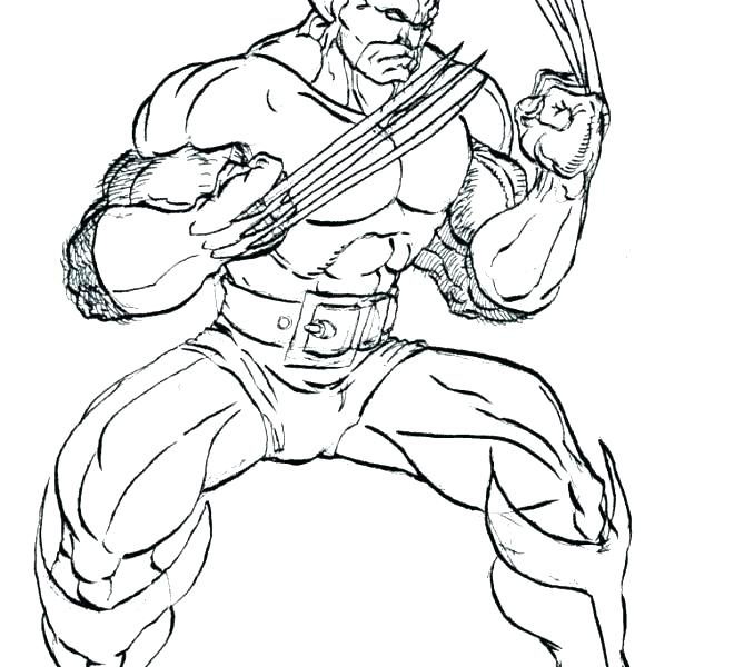 678x600 Wolverine Coloring Page Wolverine Coloring Page Wolverine Coloring