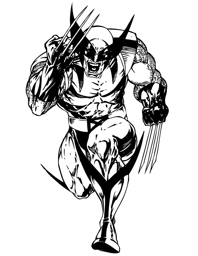 670x867 Wolverine Coloring Pages Best Of Wolverine Superhero Coloring Page