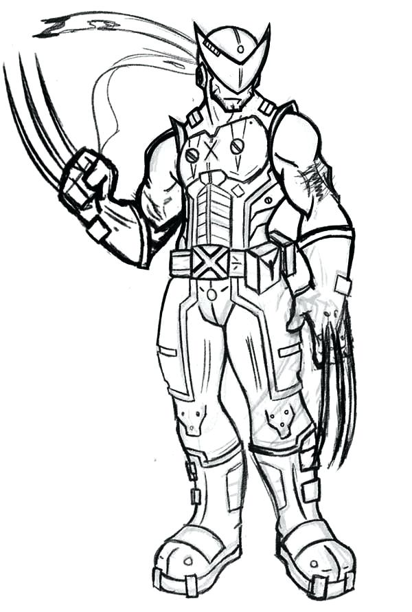 600x890 Coloring Pages Wolverine Wolverine Coloring Pages Free Printable