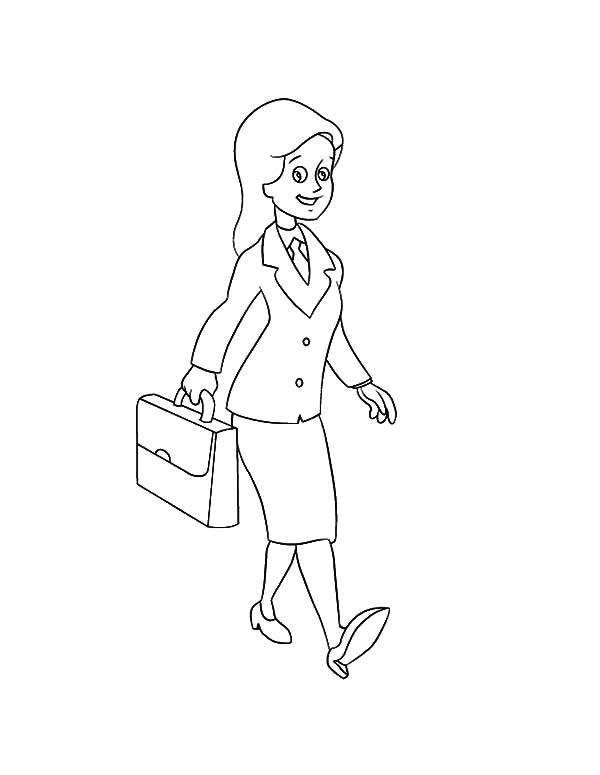 600x775 Business Woman Coloring Pages Best Place To Color