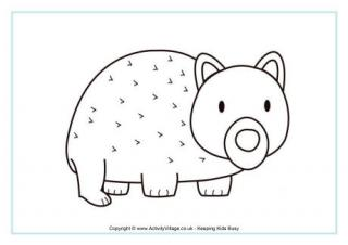 320x226 Wombat Colouring Page