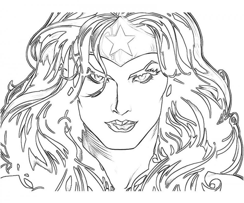 Wonder Woman Coloring Pages For Adults