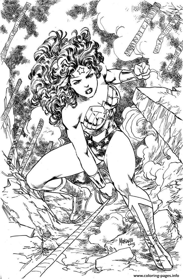 725x1102 Superhero Wonder Woman Adult Coloring Pages Printable