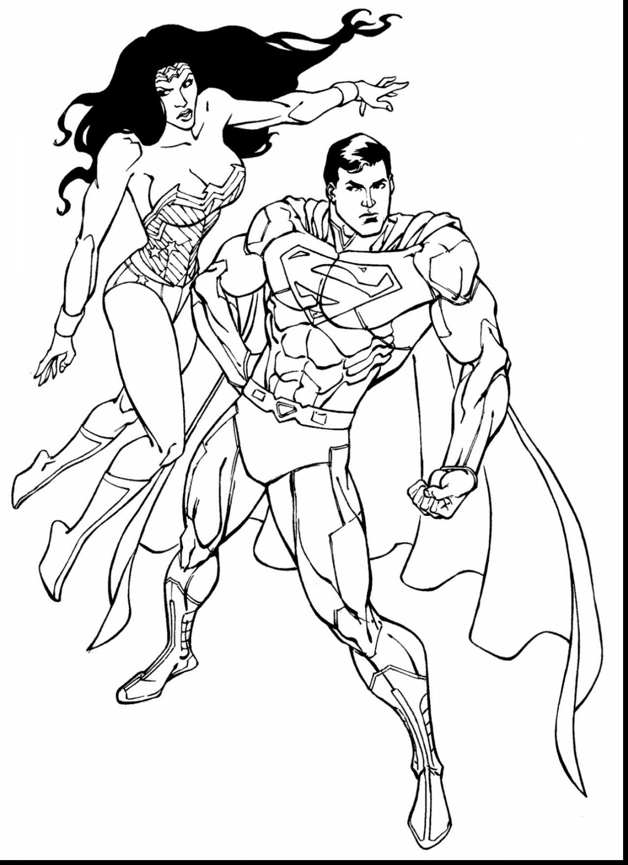 1277x1760 Wonder Woman Coloring Page Free Printable Superhero Pages Adult