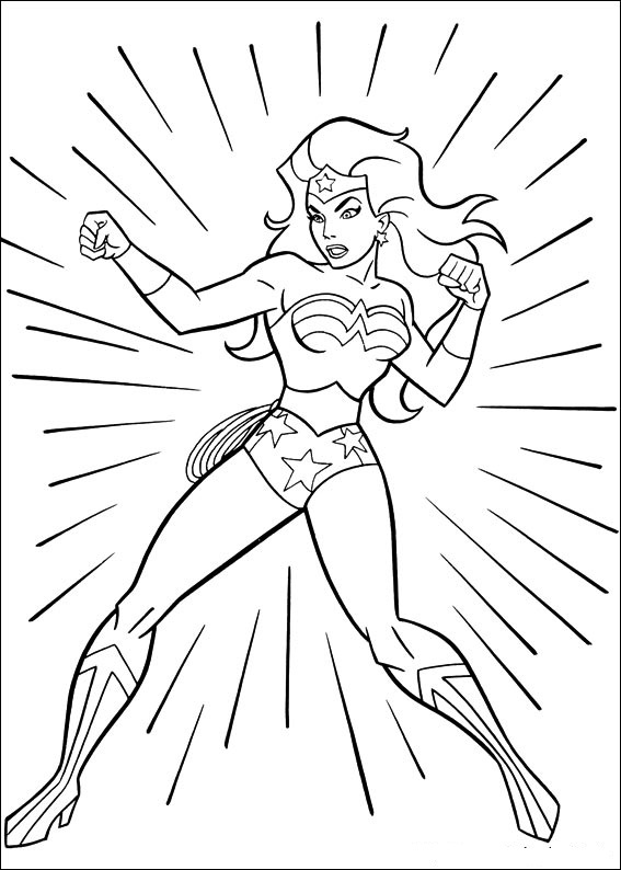 567x794 Wonder Woman Coloring Pages