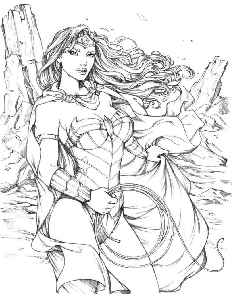811x1024 Wonder Woman Coloring Pages For Adult