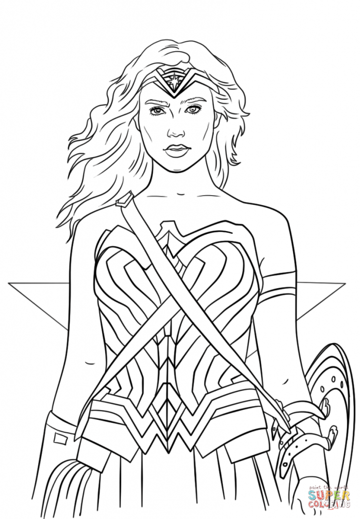 711x1024 Coloring Pages For Girls Wonder Woman Superhero Free Printable