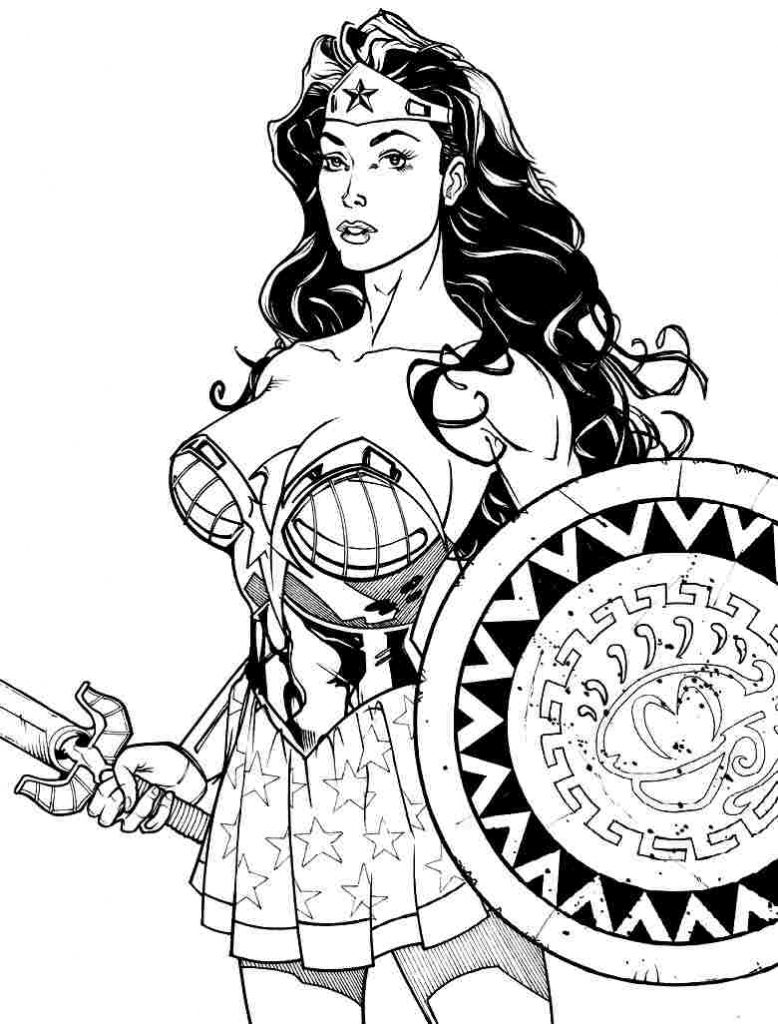 778x1024 Download Coloring Pages Wonder Woman Free Throughout Ideas