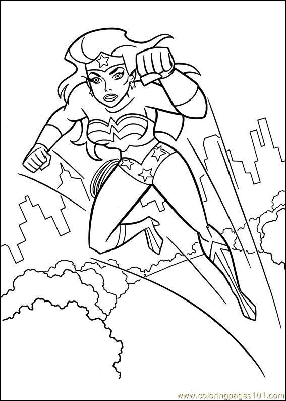 567x794 Wonder Woman Coloring Page