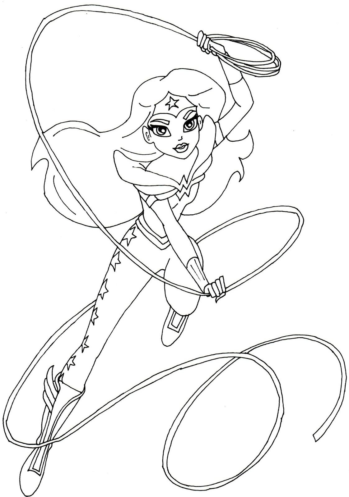 1122x1600 Wonder Woman Coloring Page