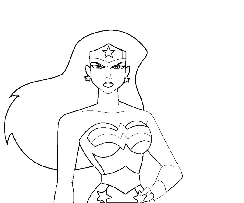 800x667 Wonder Woman Coloring Pages