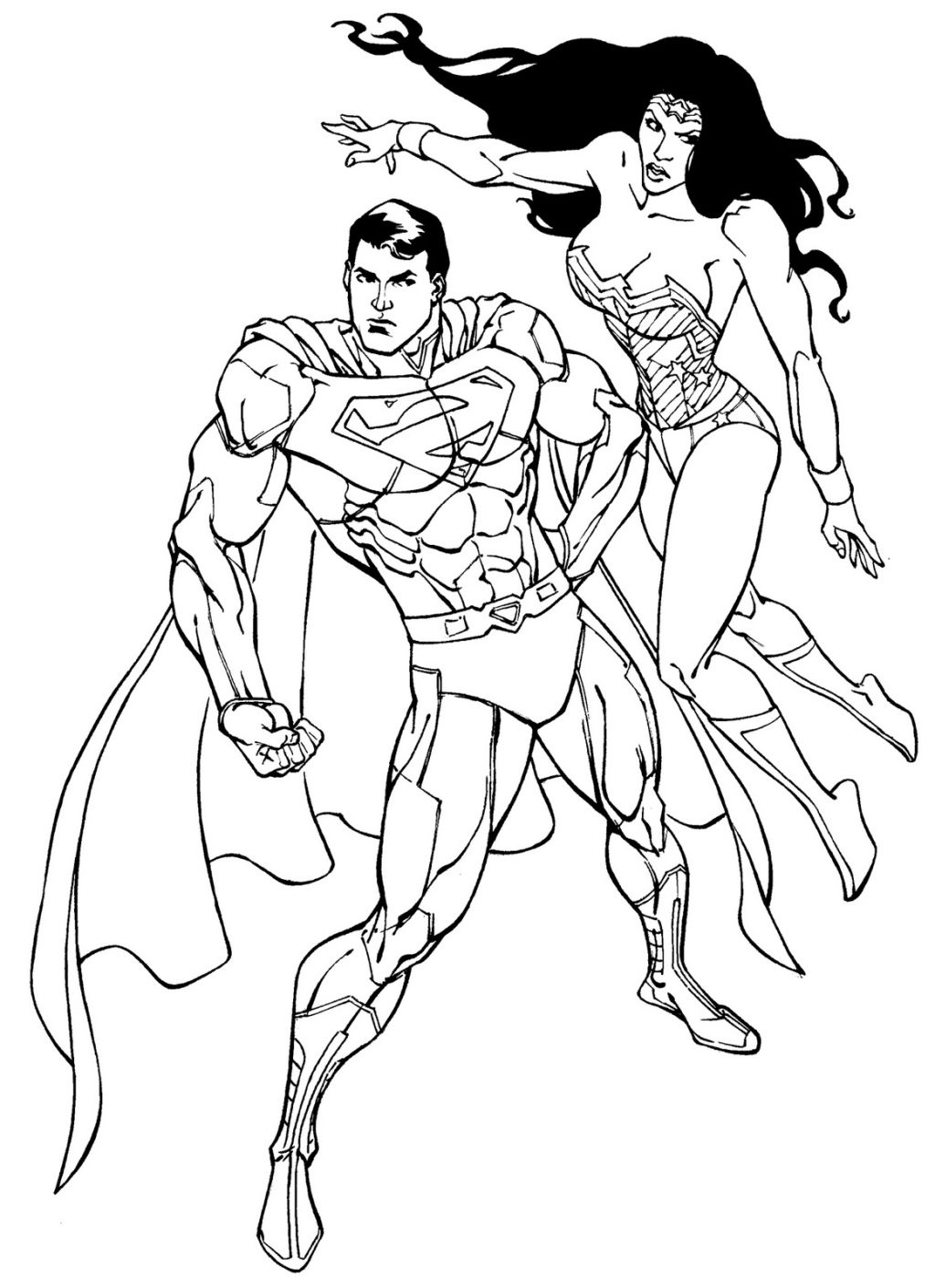 1024x1411 Wonder Woman Coloring Pages Best For Page General Free To Color