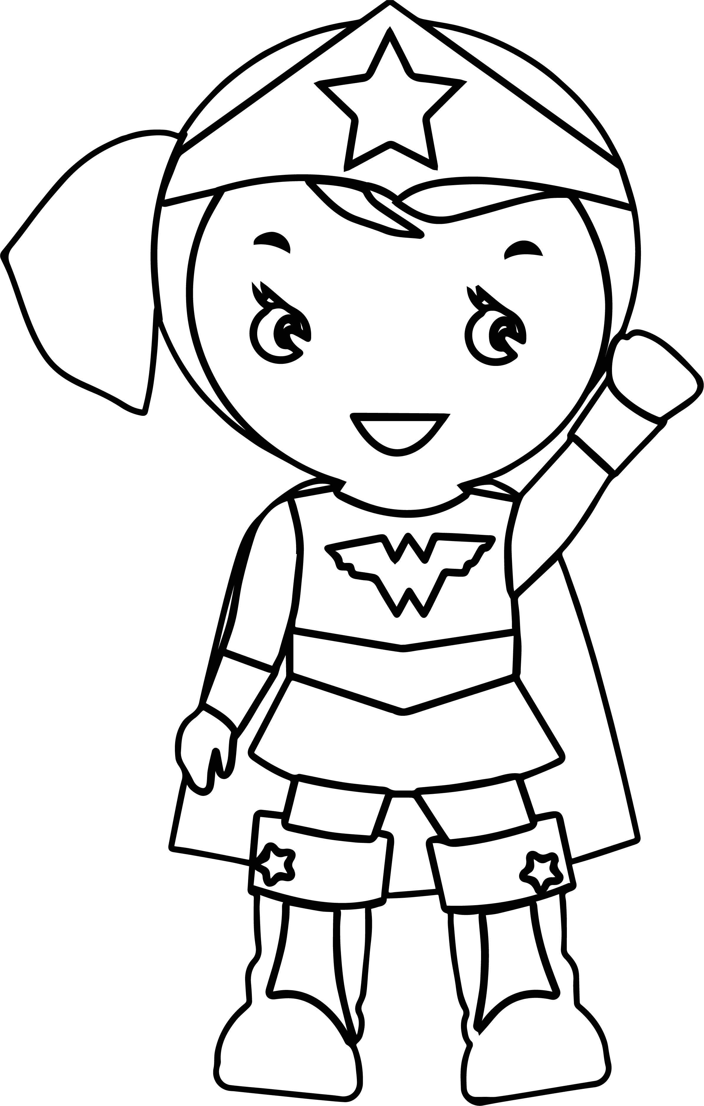 2387x3745 Cool Free Cartoon Wonder Woman Coloring Pages For Kids Printable