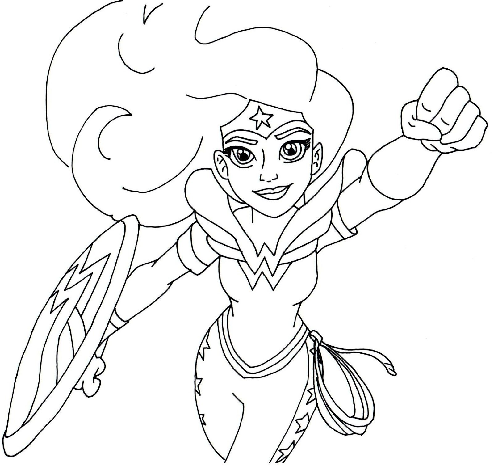 Wonder Woman Coloring Pages For Kids At Getdrawings Com