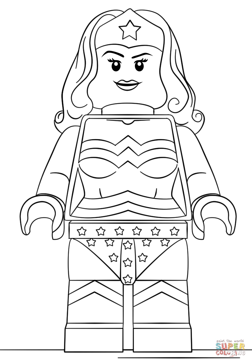 824x1186 Lego Wonder Woman Coloring Pages Gallery Coloring For Kids