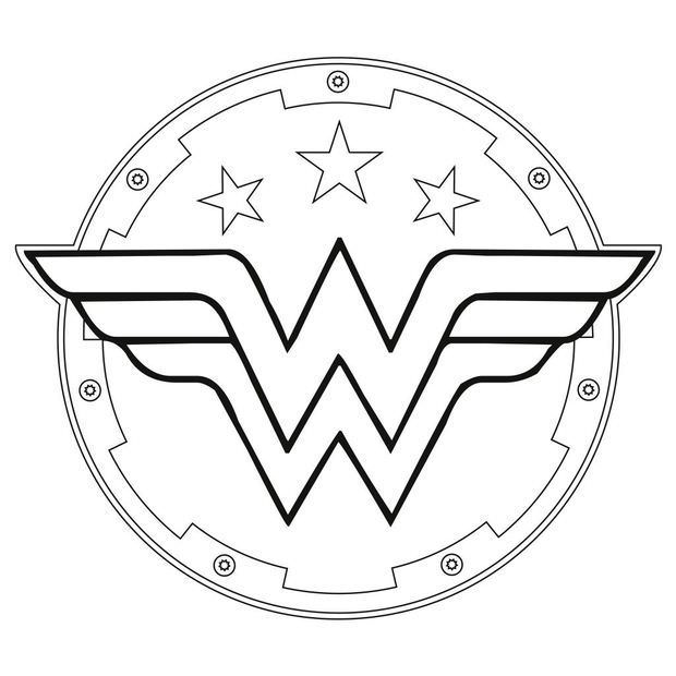 620x620 Wonder Woman Symbol Coloring Pages