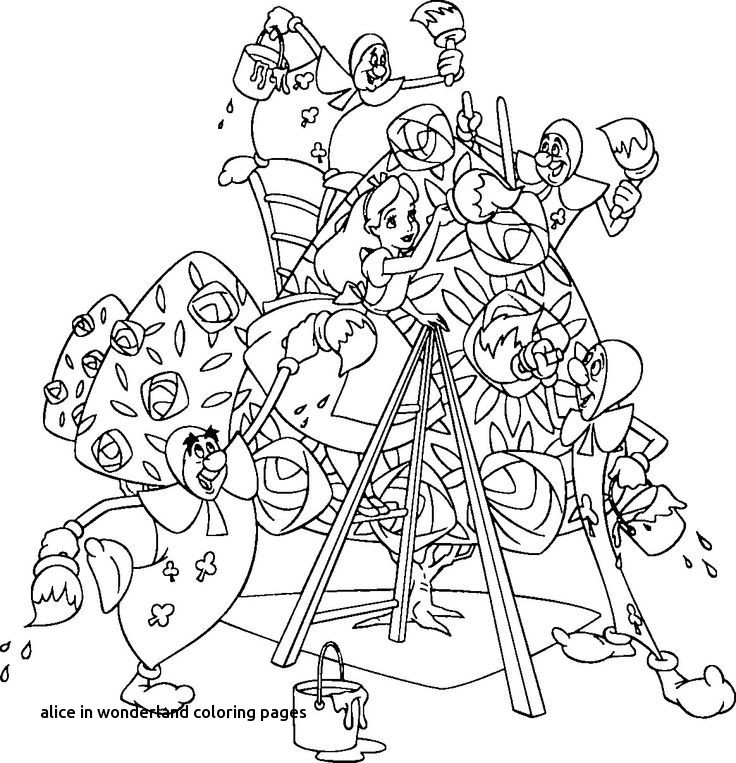 736x763 Disney Coloring Pages Alice In Wonderland Best Of Pages For Alice