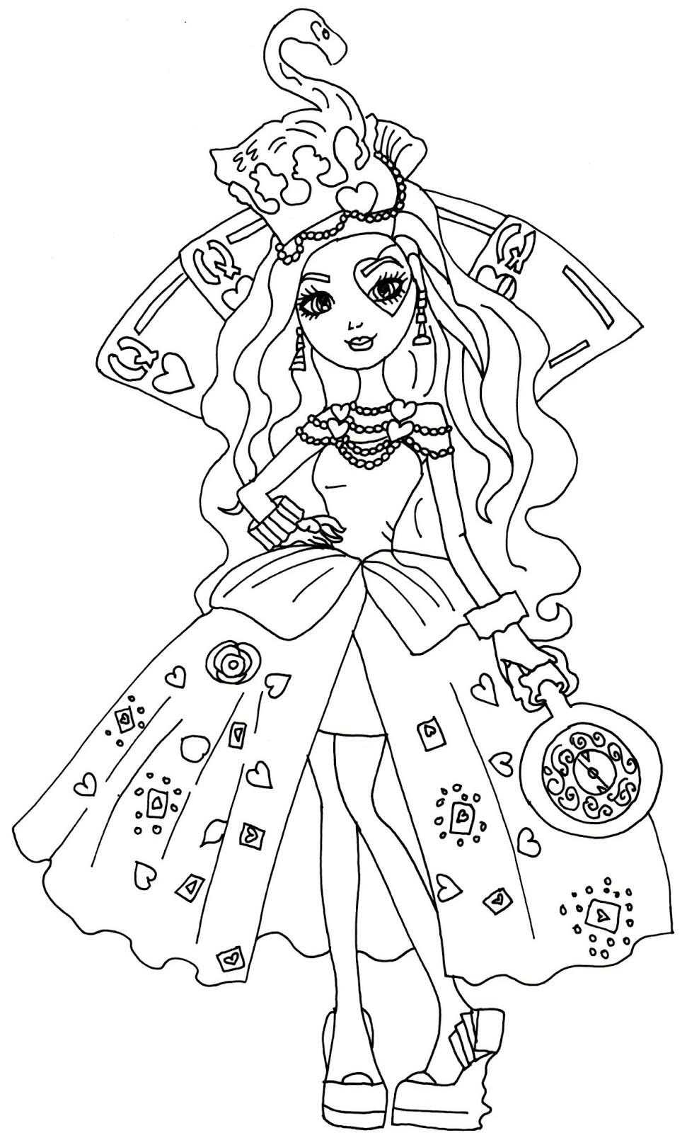 971x1600 Ever After High Way Too Wonderland Coloring Pages Fresh Madeline