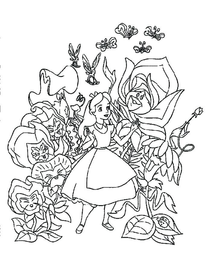700x884 Alice In Wonderland Coloring Page Cute In Wonderland Coloring
