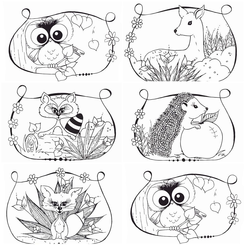 1000x1000 Amazing Woodland Coloring Pages Depetta Picture Of Animal Trends