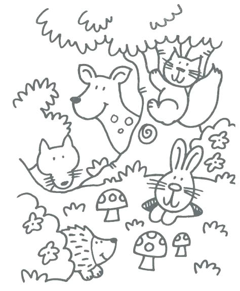 474x573 Coloring Pages Online Flowers Woodland Animals Crafts And Free