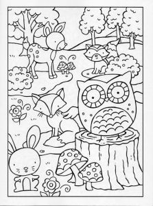 223x300 Encouragement With Printable Coloring Pages Woodland Animals
