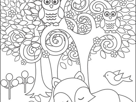 Woodland Creatures Coloring Pages At Getdrawings Free Download