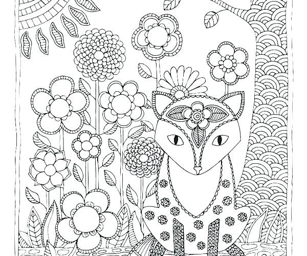 woodland creatures coloring pages 28